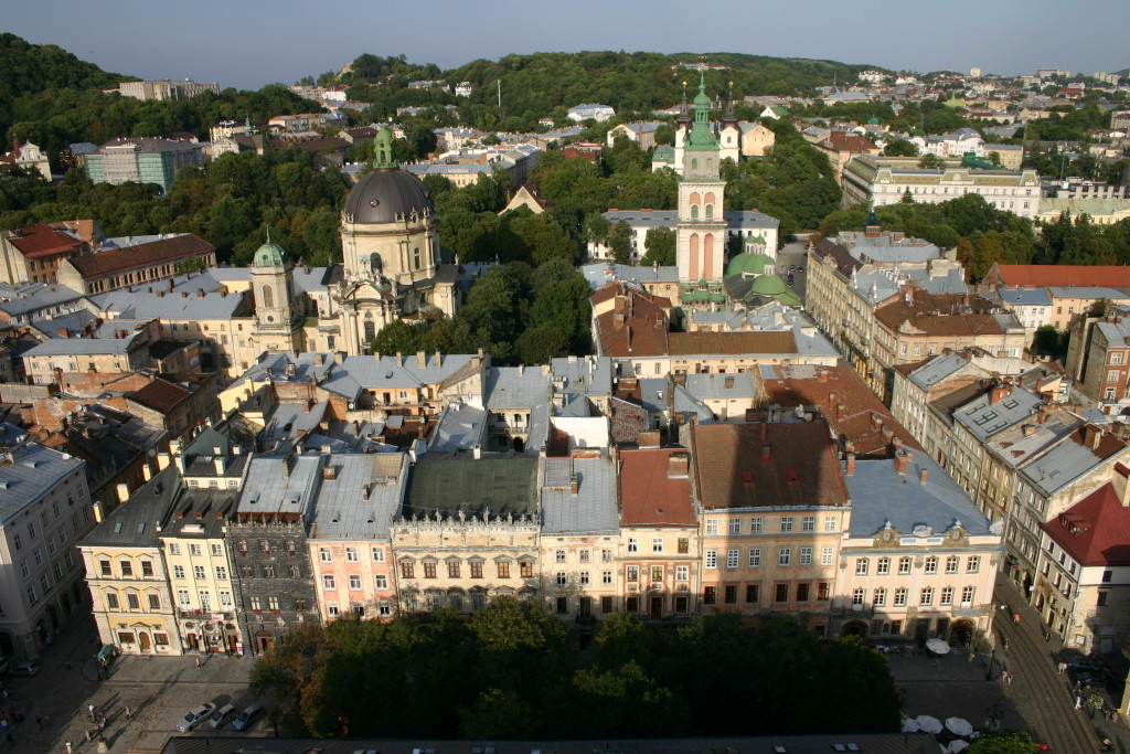 Lviv / Lwow/ Lemberg - Blick auf die Stadt vom Rathausturm, 2012